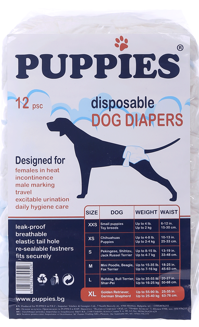 Puppies - disposable dog diapers